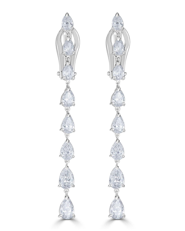 Zydo 18K LUMINAL DIAMOND DANGLE EARRINGS, 3.34TCW