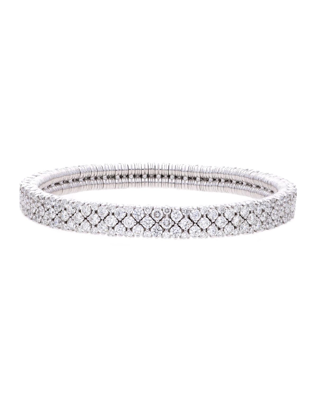 ROBERTO DEMEGLIO Cashmere 18K White Gold Diamond Stretch Bracelet