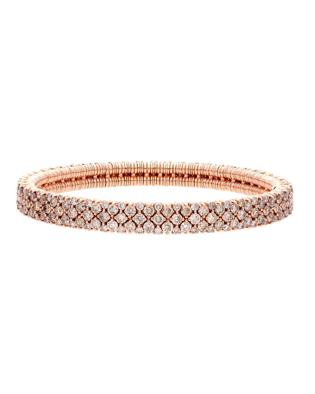 ROBERTO DEMEGLIO Cashmere 18K Rose Gold Diamond Stretch Bracelet