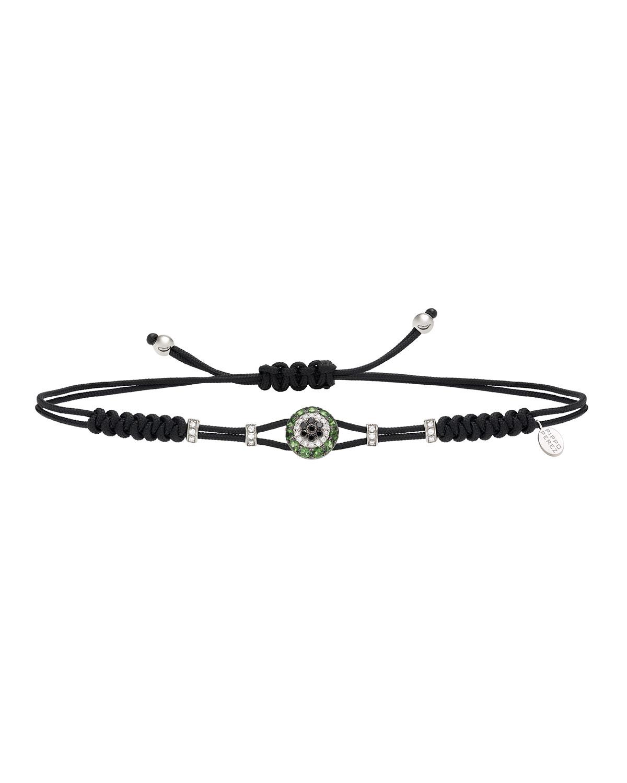 PIPPO PEREZ 18K Diamond & Garnet Fatima Eye Pull-Cord Bracelet