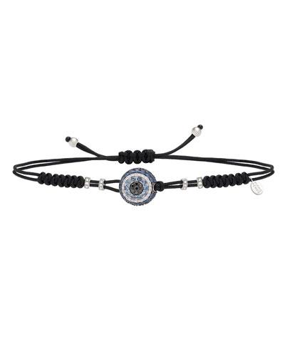 Pull-Cord Bracelet with Sapphire & Diamond Fatima Eye Station