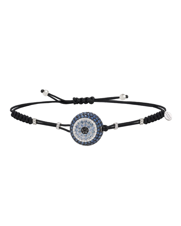 PIPPO PEREZ Pull-Cord Bracelet With Blue Sapphire & Diamond Fatima Eye