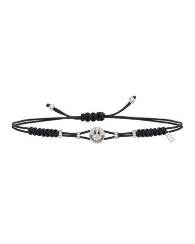 18k Diamond Smile Pull-Cord Bracelet