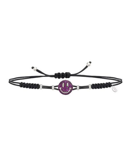 Pippo Perez 18k Ruby Smile Pull-Cord Bracelet