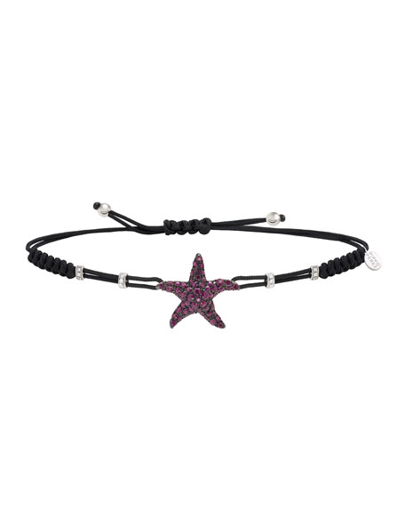 Pippo Perez 18k Ruby Star Pull-Tie Bracelet