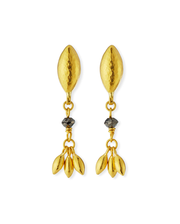 Delicate Hue Black Diamond Drop Earrings