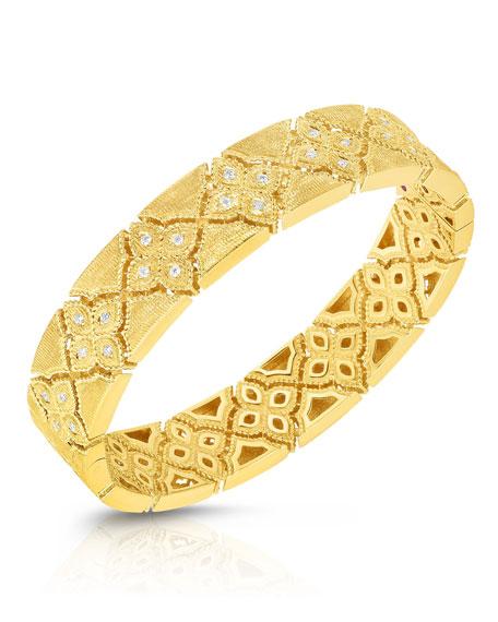 Roberto Coin Venetian Princess 18k  Gold Diamond Bangle