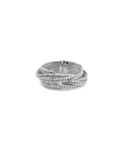 7-Strand Silver Curb Chain Bracelet