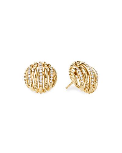 Tides 18k Gold Diamond Stud Earrings