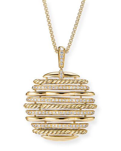 Tides 18k Diamond Pendant Necklace