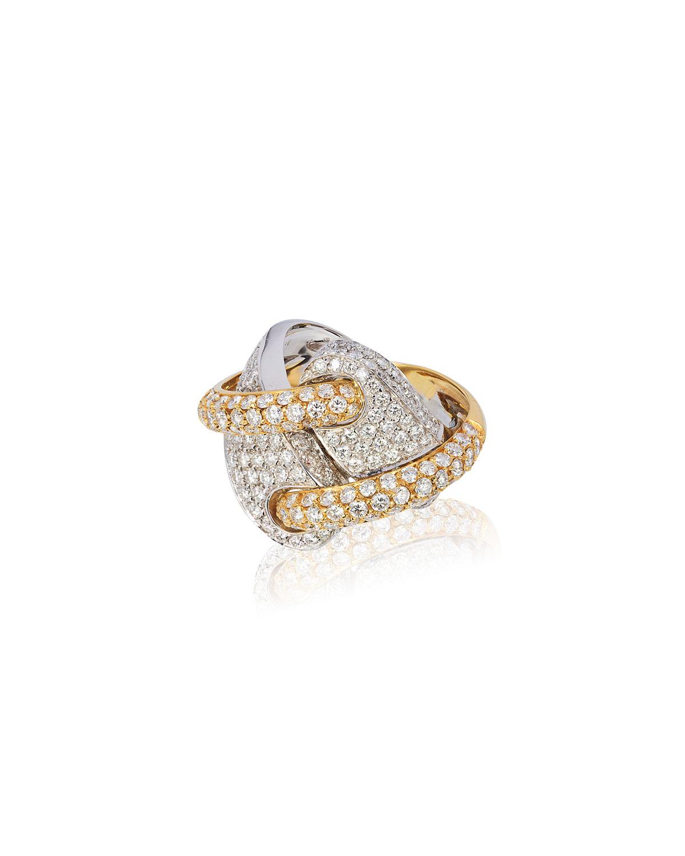 ANDREOLI 18K 2-Tone Gold Diamond Ring