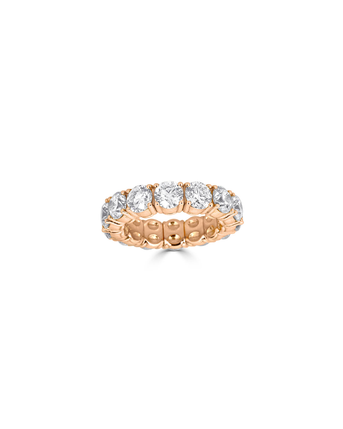 ZYDO Stretch 18K Rose Gold Large Round Diamond Ring