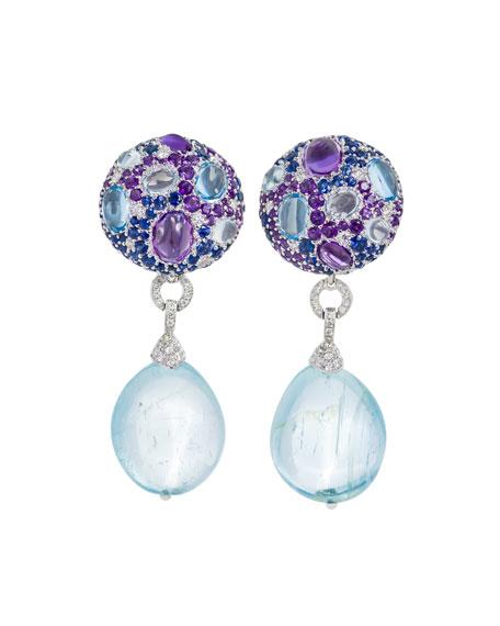 Margot McKinney Jewelry Multi-Stone & Detachable Drop Earrings, Blue