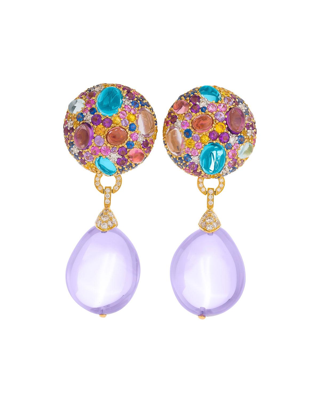 MARGOT MCKINNEY JEWELRY Multi-Stone & Detachable Drop Earrings