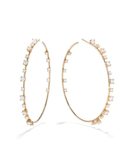 Lana 14k Mega Solo Diamond Wire Hoop Earrings