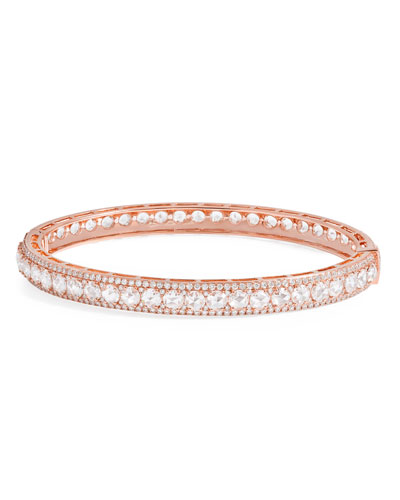 18K Rose Gold Linear Hinged Diamond Bracelet