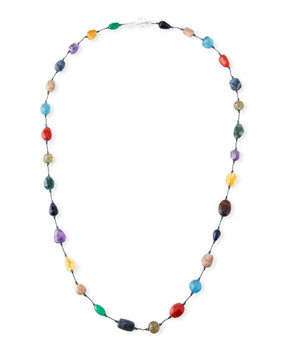 Long Mixed-Stone Necklace, 35