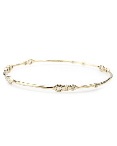 18k Gold Sweet 16 Diamond Bangle Bracelet