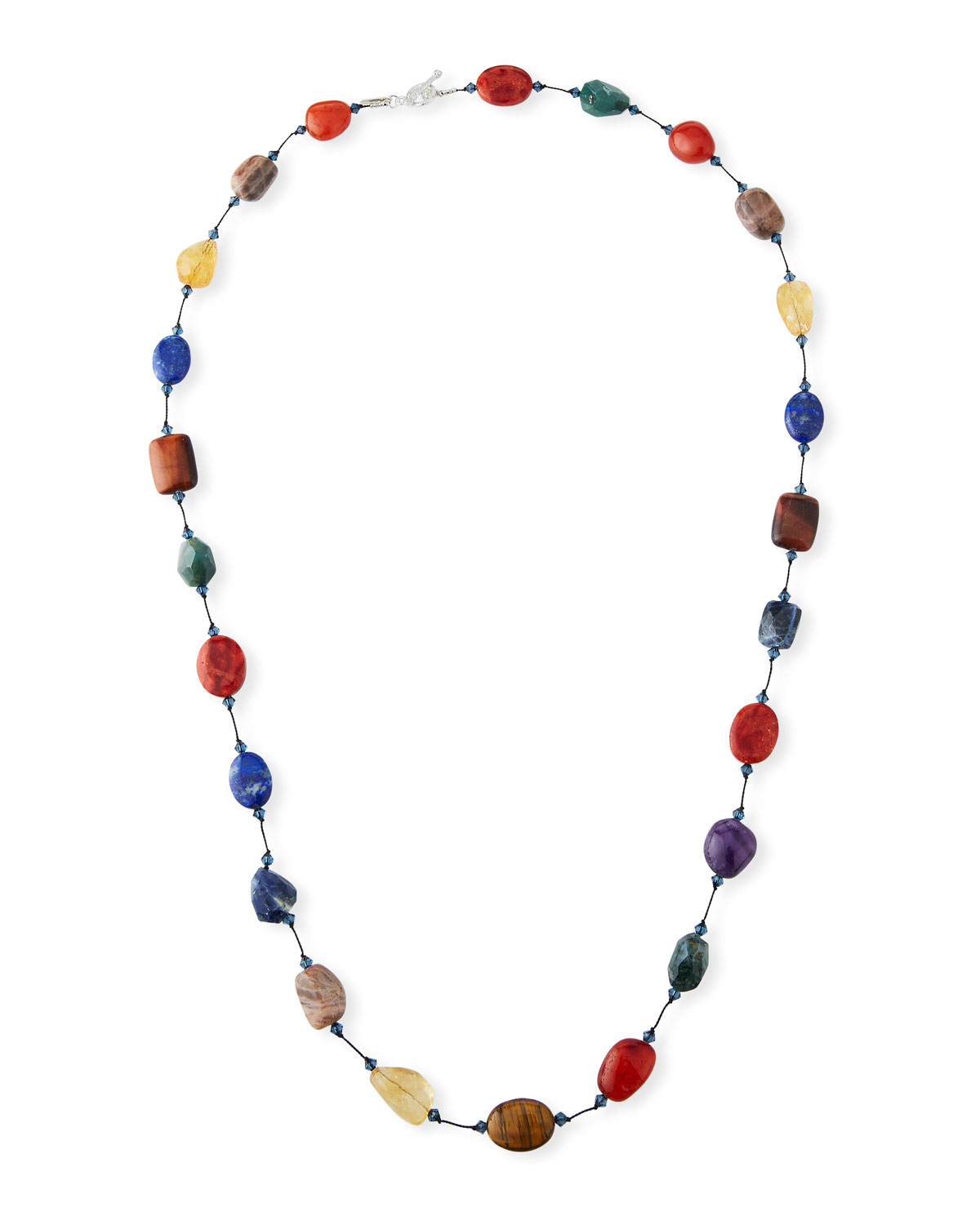 "MARGO MORRISON Long Multi-Stone Necklace, 35""L"
