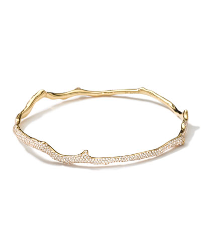 18k Gold Coral Reef Diamond Bangle