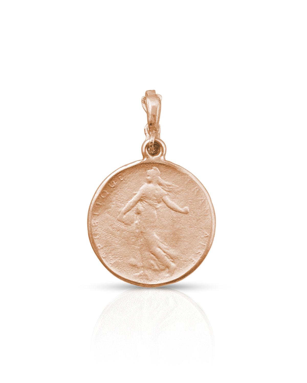18k Rose Gold Goddess Coin Classic Enhancer