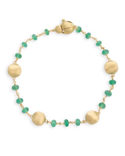 18k Gold Africa Emerald Bracelet