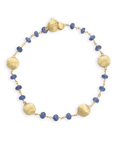 18k Gold Africa Sapphire Bracelet