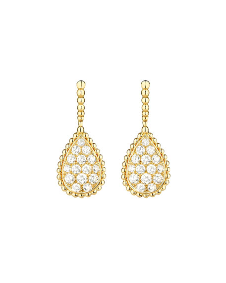 Boucheron Serpent Boheme 18k Diamond Teardrop Earrings