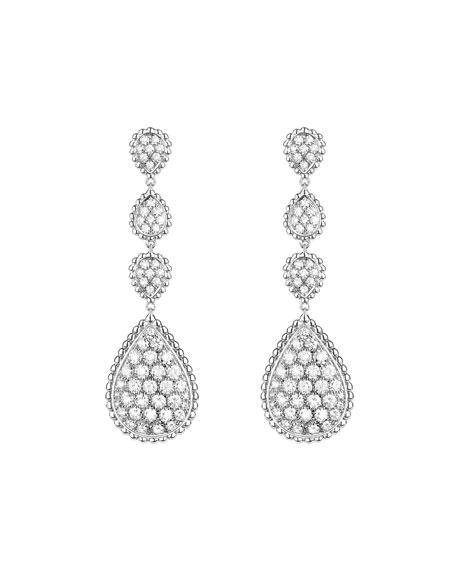 Boucheron Serpent Boheme 18k White Gold Diamond Drop Earrings