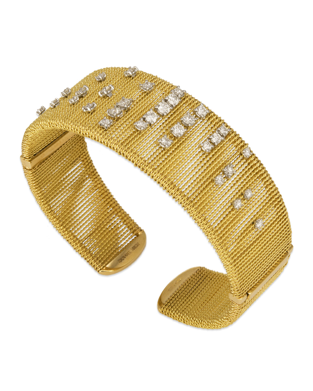 STAURINO FRATELLI Renaissance 18K Dancing Diamond Cuff Bracelet