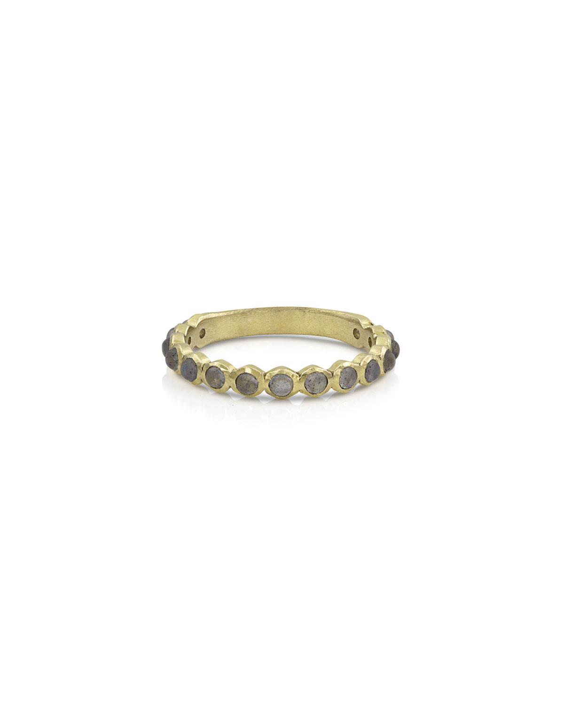 18k Gold Labradorite Stack Ring