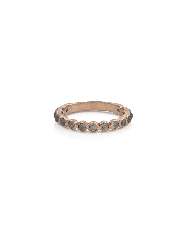 18k Rose Gold Labradorite Stack Ring