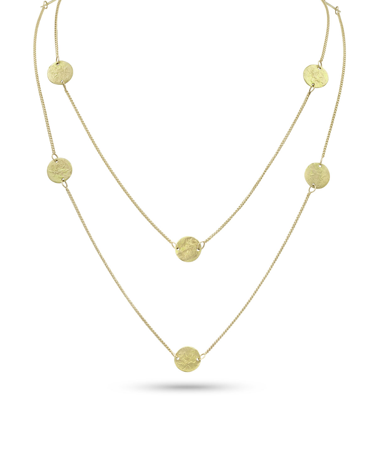 Griffin Coin 18k Gold Long Necklace