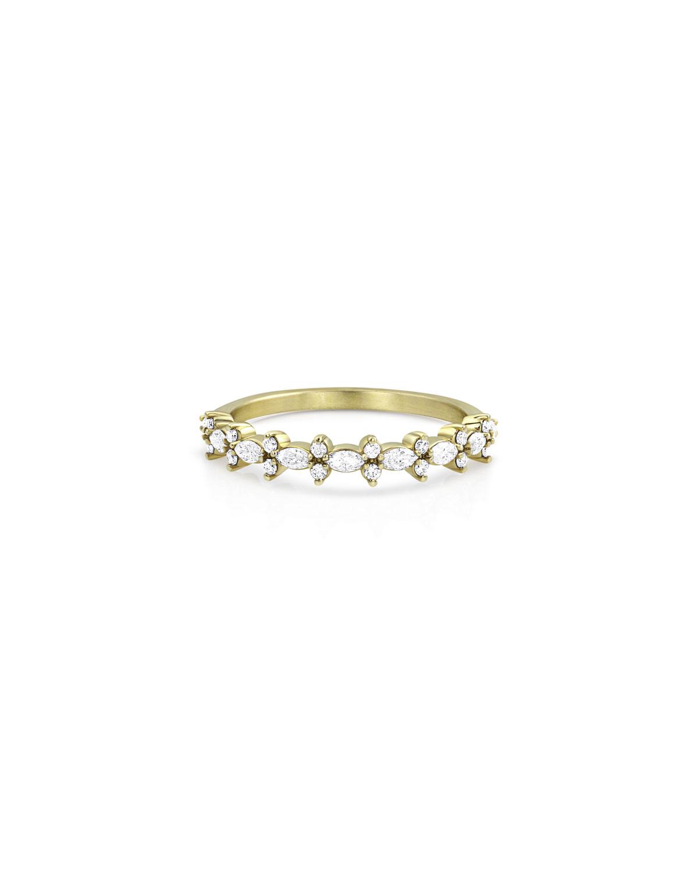 14k Gold Diamond Crown Stack Ring