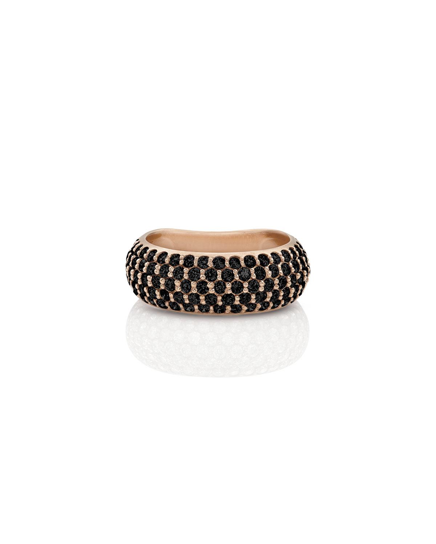 DOMINIQUE COHEN 18K Rose Gold Black Diamond Ring, Size 7