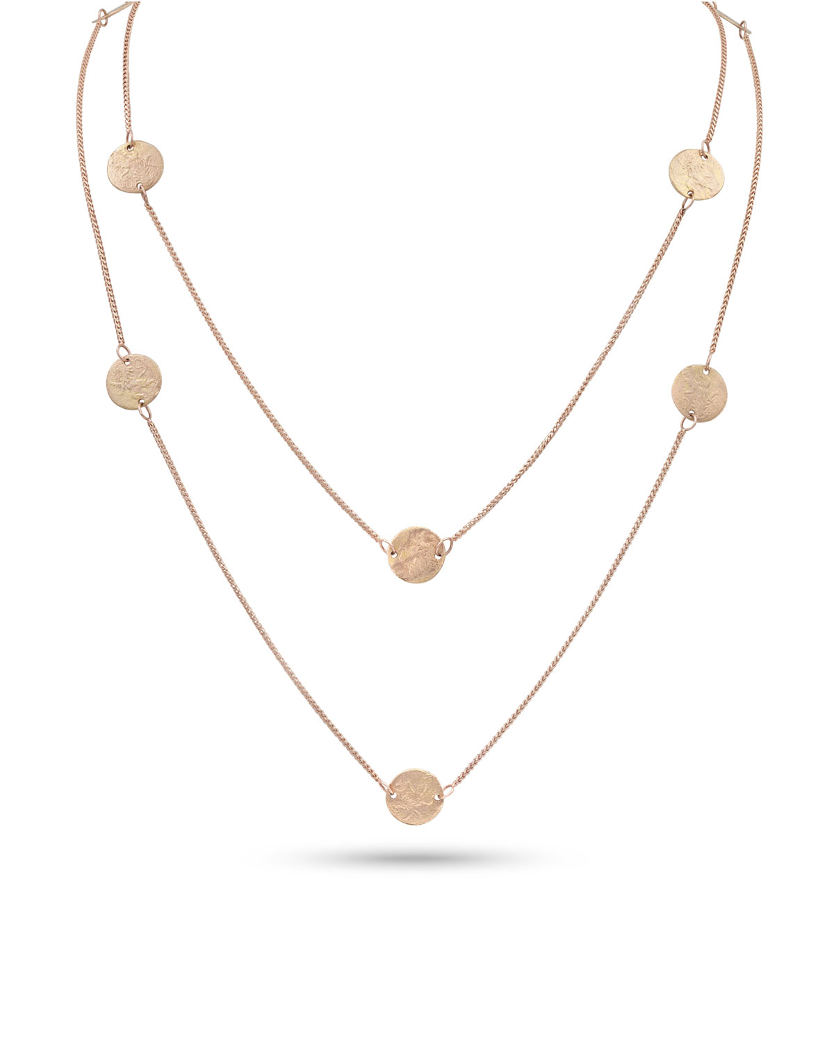 Griffin Coin 18k Rose Gold Long Necklace