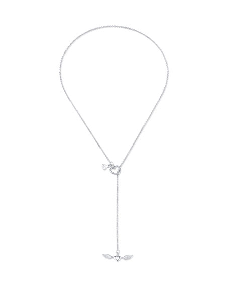 Cynthia Bach 18k White Gold Sweetheart Toggle Necklace