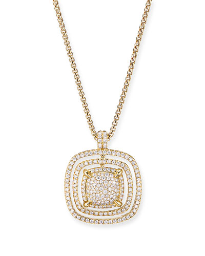 Chatelaine 18k Full Diamond Pave Pendant Necklace