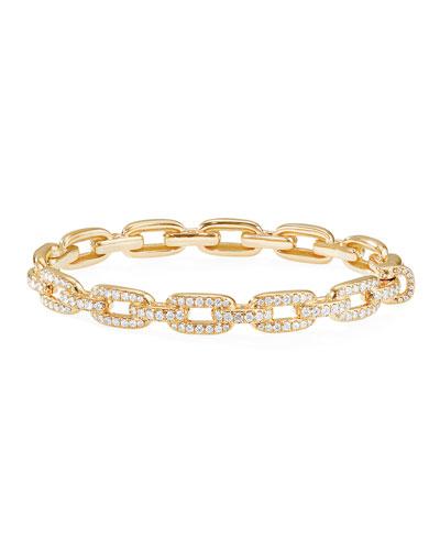 Stax 18k Gold Diamond Link Bracelet, Size M