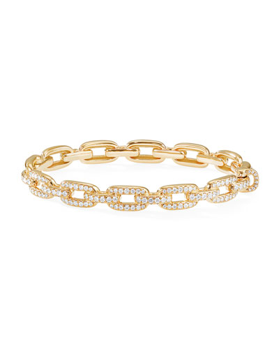 Quick Look David Yurman Stax 18k Gold Diamond Link Bracelet