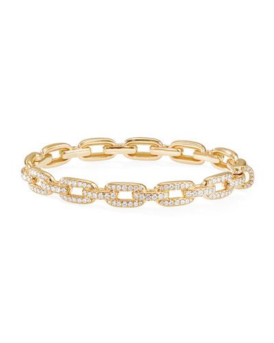 Stax 18k Gold Diamond Link Bracelet, Size S