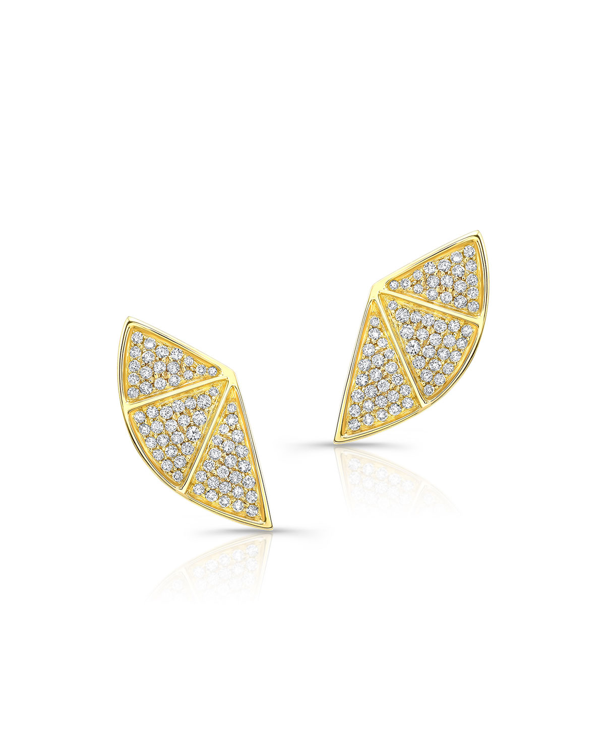 RON HAMI 14K Diamond Fan Earrings