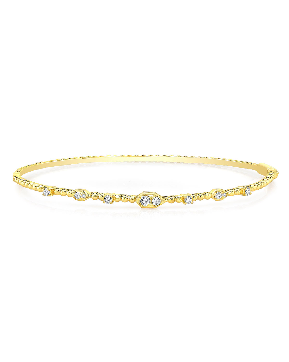 RON HAMI Bubble 14K Gold Diamond Bangle