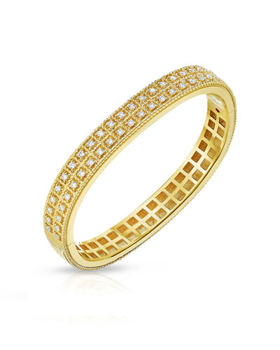 Byzantine Barocco 18k 2-Row Diamond Bangle
