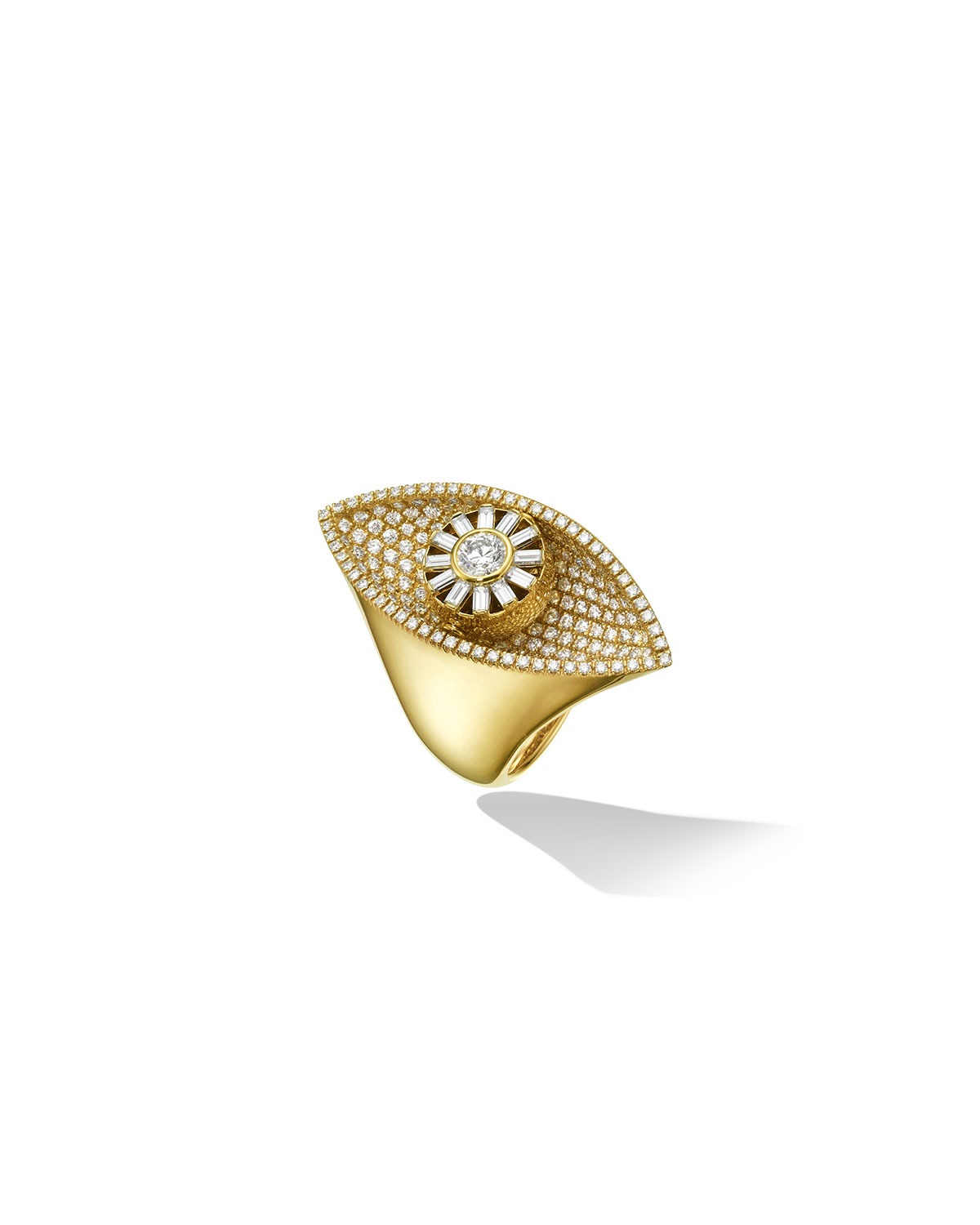18K Reflections Cocktail Ring