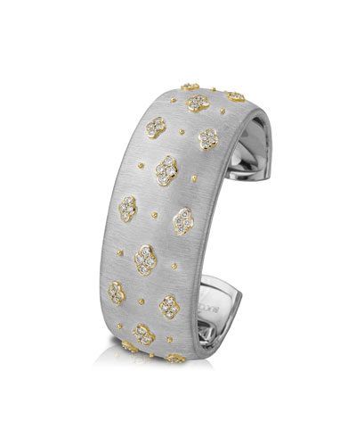 Macri 18k White Gold Diamond Cuff