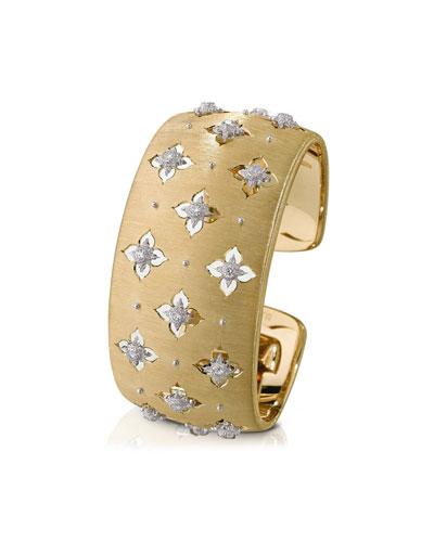 Macri Giglio 18k Yellow Gold Diamond Cuff, 3cm