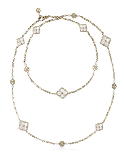 Opera 18k Long Station Necklace in Mother-of-Pearl
