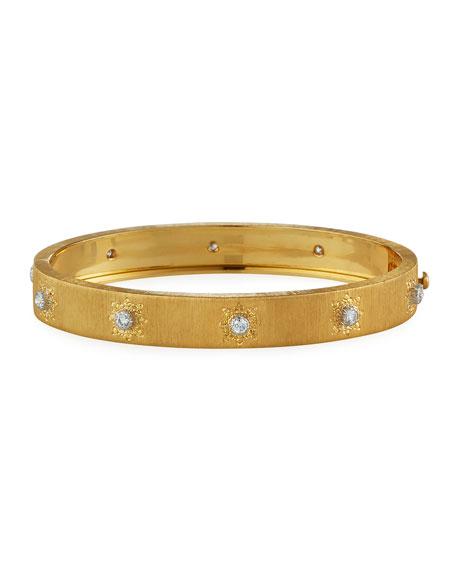 Buccellati Macri Classica 18k Gold Diamond Bangle