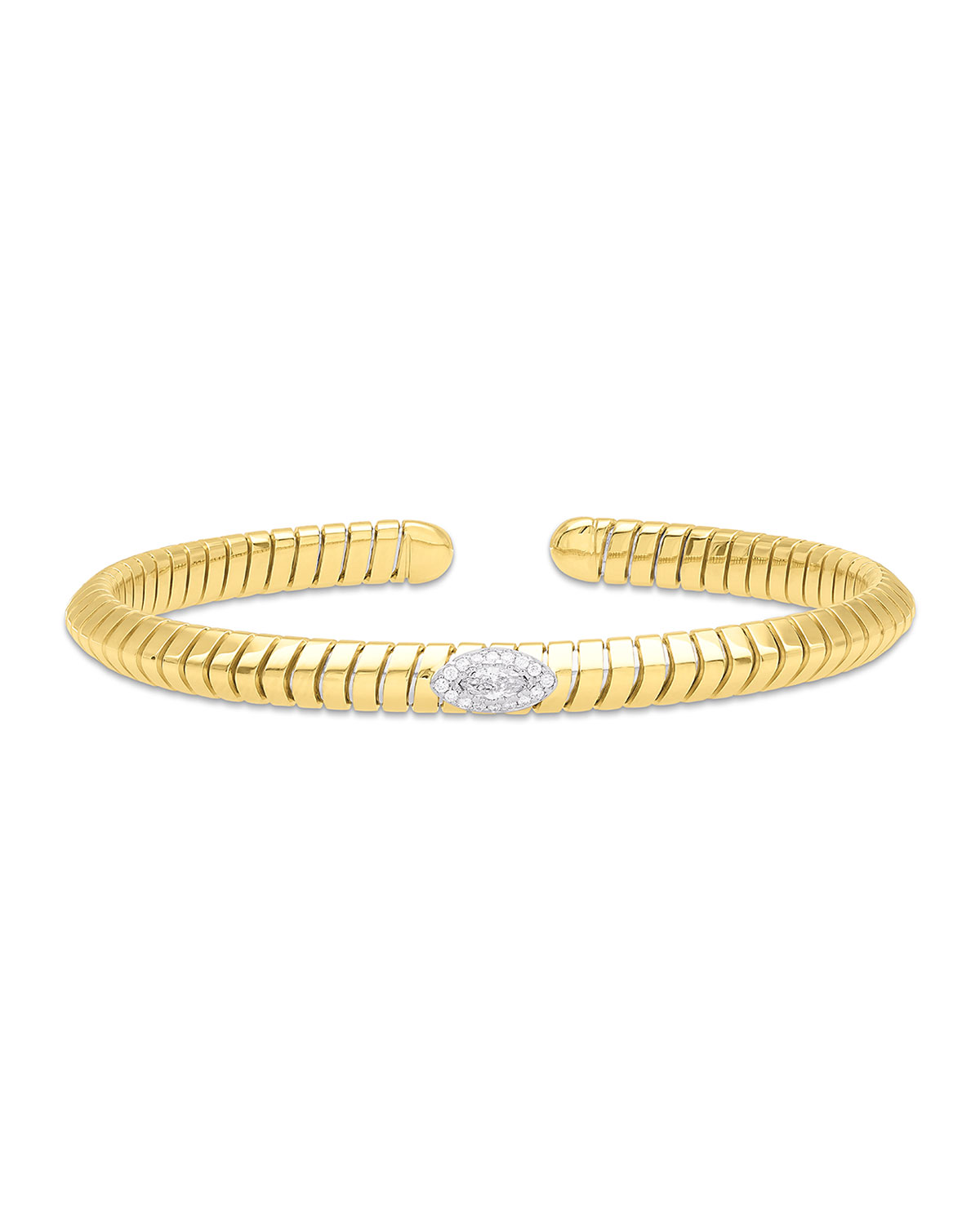 MARINA B Trisola 18K Diamond Navetta Bangle, Size L